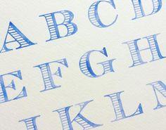 Watercolor letters.