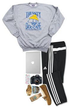 Editing a video by sperry-topsider ❤ liked on Polyvore featuring mode, adidas, Eos et UGG Australia