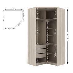closet em l medidas ile ilgili görsel sonucu Corner Wardrobe Closet, Wardrobe Design Bedroom, Wardrobe Cabinets, Bedroom Bed Design, Bedroom Wardrobe, Small Room Bedroom, Bedroom Cupboards, Closet Layout, Dream Closets