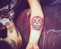 old school tattoo mexican Skull