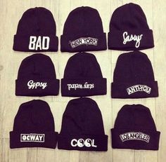 .x.. I would wear most of these awesome word hats