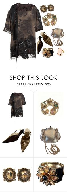 """""""Brooches *Outfit Only*"""" by jcmp ❤ liked on Polyvore featuring Marc Jacobs, Sarah Coventry, Bally, Judith Leiber, Stephen Dweck and Robert Lee Morris"""