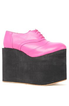 Deandri Shoe Smooth Faux Leather Elroy Oxford in Hot Pink and Black Foam Oxford Pumps, Pretty Girls, Hot Pink, Fancy, Don't Worry, Sneakers, Streetwear, Concrete, Leather