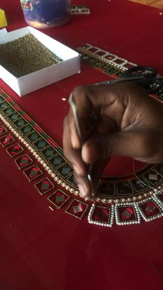 Bead Embroidery Tutorial, Hand Embroidery Design Patterns, Hand Work Embroidery, Mirror Work Blouse Design, Cutwork Blouse Designs, Pakistani Dresses, Blouses, Indian, Girls Coats