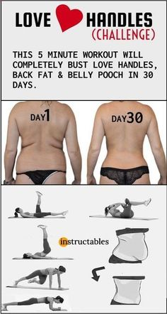 LOVE HANDLES - This 5 minute workout will completely burn your love handles, back fat & belly fat. Fitness Motivation, Fitness Quotes, Exercise Motivation, Life Motivation, Love Handles Challenge, Pilates, Health And Fitness, Fitness Abs, Workout Fitness