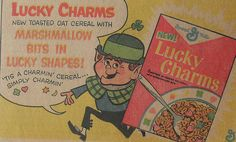 1960s LUCKY CHARMS Vintage Comic Book Illustration Advertisement by Christian Montone, via Flickr