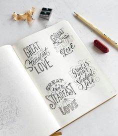 or 4 ? Hand Lettering 101, Chalk Lettering, Creative Lettering, Types Of Lettering, Lettering Styles, Script Lettering, Lettering Tutorial, Brush Lettering, Lettering Design
