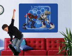 Transformers - Optimus Prime and Megatron (wall mural)