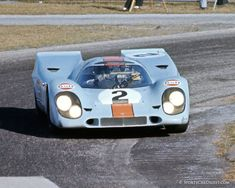 1970 Rodriguez/Kinnunen Porsche 917K going through turn six on the infield course.  (Fred Lewis photo)