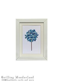 quilling tree picture // wall art // blue by QuillingWonderland, $30.00