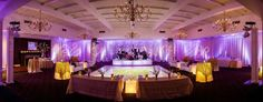 Uplighting and monogram lighting by Luma Designs for Tennessee wedding reception, photographed by Bamber Photography