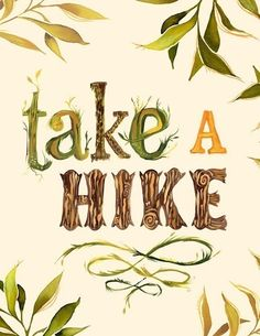 Take a Hike; Nothing's Nicer Than A Walk Through The Forest; Katie Daisy Art