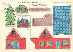 Recortables de casas y edificios | Casa nórdica