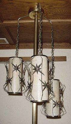 Vintage Lamps 1950 | Mid-Century Modern Tension pole lamp, north star (starburst) design ...