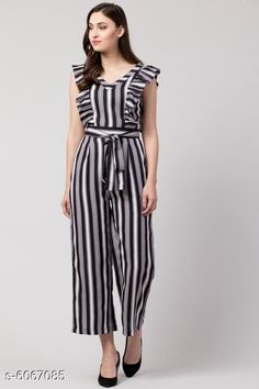 Jumpsuits Sia Attractive Women's Jumpsuit Fabric: Poly Crepe Sleeve Length: Short Sleeves Pattern: Striped Multipack: 1 Sizes:  S (Bust Size: 36 in Length Size: 48 in Waist Size: 28 in)  XL (Bust Size: 42 in Length Size: 48 in Waist Size: 34 in)  XS (Bust Size: 34 in Length Size: 48 in Waist Size: 26 in)  L (Bust Size: 40 in Length Size: 48 in Waist Size: 32 in)  M (Bust Size: 38 in Length Size: 48 in Waist Size: 30 in) Country of Origin: India Sizes Available: XS, S, M, L, XL   Catalog Rating: ★4.2 (10606)  Catalog Name: Sia Attractive Women's Jumpsuit CatalogID_921725 C79-SC1030 Code: 015-6067085-6231