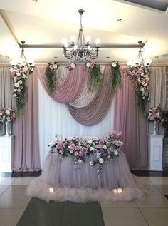Diy Wedding Backdrop Head Table Curtains Ideas For 2019 Trendy Wedding, Dream Wedding, Wedding Day, Wedding Beauty, Church Wedding, Party Wedding, Wedding Back Drop Ideas, Wedding Bride, Floral Wedding