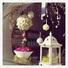 Our spring window  #macaron #tea #Spring #Soirette