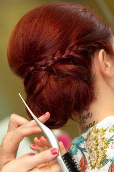 wedding hair braid  (Jessie, this might be my fav)