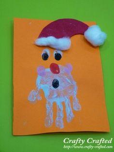Kids painted Santa- perfect on a tshirt