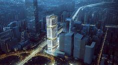 Galería de Inspirado en el bambú, Aedas presenta diseño de futuro rascacielos en China - 1