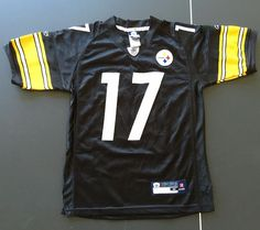 Mike Wallace # 17 Jersey.Pre-owned from smoke free environment. Get your Little Steelers on board with this cool jersey. It is in very good condition. Pittsburgh Steelers Youth Jersey. Size Medium 12-14. | eBay!