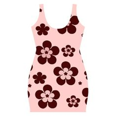 Pink with brown flowers Bodycon dress by Khoncepts.com #trendystyle #formfitting