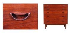 Chest of drawers in teak by Peter Hvidt & Orla Mölgaard-Nielsen.