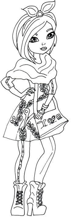 Free Printable Ever After High Coloring Pages: Holly O'Hair Ever After High Coloring Page | more pages at the web site