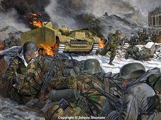 Batalla de Foy, localidad belga ocupada por los alemanes durante la Ofensiva de las Ardenas, pero que fue recuperada por la 101 Airborne tras la contraofensiva aliada, cortesía de Johnny Shumate.