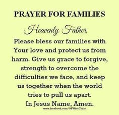 Quotes about family family blessing quotes matt quotes ideas blessed family quotes Prayer Scriptures, Bible Prayers, Faith Prayer, God Prayer, Power Of Prayer, Bible Verses, Catholic Prayers, Bible Quotes, Qoutes