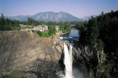 Salish Lodge & Spa - Seattle's Luxury Hotel Resort & Spa; hear the waterfall from the dining room; Washington