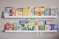 DIY Wall Mounted Kid's Bookshelves