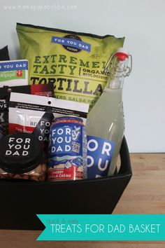 Treats for Dad Basket {A Quick & Easy Father's Day Gift} | Mama.Papa.Bubba.