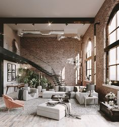 This loft with magnificent brick walls is an urban success – PLANETE DECO a homes world – loft and architects' house – murnoir