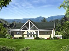 Mountain House Plan, 062H-0266 Cottage Style House Plans, Lake House Plans, Mountain House Plans, House Plans One Story, House Plans And More, Cottage Plan, Ranch House Plans, Craftsman House Plans, Best House Plans