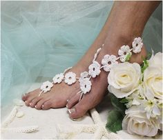 Barefoot Sandals, foot jewelry,beach wedding,barefoot sandals, wedding shoes,