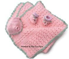 Enfant-bébé, mes créas Un Grand Marché · Couverture, bonnet, chaussons  petites souris, ensemble naissance rose, personnalisation gratuite, 9f3735ae4dc