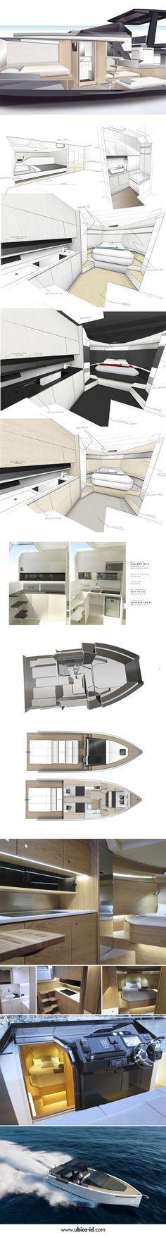 #DeAntonio #Yacht's sleek Interior - Designed by Ubica-id.  Nic@Pureyacht.com #OwnYourRefit www.pureyacht.com