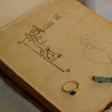 The sketchbook, ring & charm - Liberty Silk The Book.