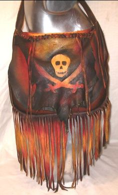 Leather Steampunk Bag Renaissance Purse Jolly Roger by dleather, $189.95
