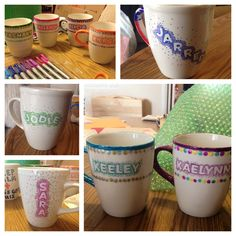 Sharpie mugs - Crafts - amazing craft Mug Crafts, Sharpie Crafts, Sharpie Pens, Diy Sharpie Mug, Sharpie Doodles, Sharpies, Crafts For Teens To Make, Crafts To Make, Sharpie Projects