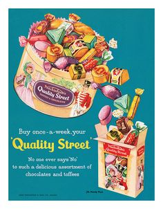 1959 Mackintosh's Quality Street Toffees & Chocolates Ad