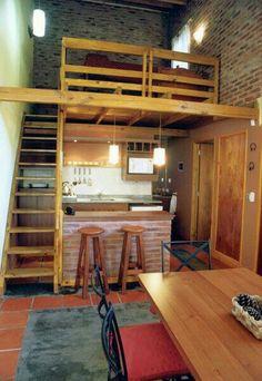 👍Tiny Loft Space Saving Tips? college apartment,beds room i. 👍Tiny Loft Space Saving Tips? Tiny Spaces, Loft Spaces, Small Apartments, Tiny Loft, Small Loft, Loft Design, Tiny House Design, Design Design, Loft Kitchen