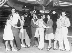 1930 Hawthron CA Possesssed with the spirit of terpsichore these five young couples have been dancing walking or shuffling about in a pavilion at...