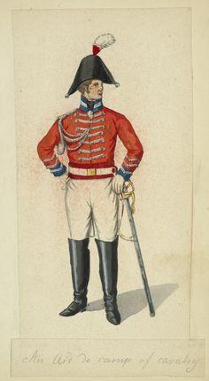 British Aide de camp de cavalery 1815