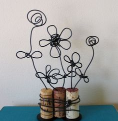 Reserved for Dayla- Wire Flower Trio