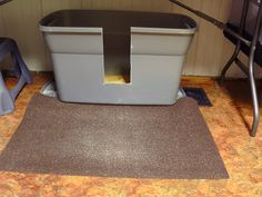 Litter box for larger cats - with those with bad aim.