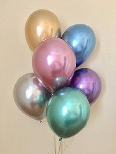 Items similar to New Chrome Gold Silver Purple Blue Mauve 11 inch Latex Balloons~Metallic Balloon~Chrome Balloon~Birthday~Wedding~Bridal~Baby~Bling~Shiny on Etsy 5 Balloons, Metallic Balloons, Latex Balloons, Birthday Balloons, Birthday Parties, Balloon Centerpieces, Balloon Decorations, Birthday Decorations, Wedding Centerpieces