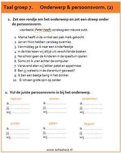 Schoolwiz - Taaloefeningen groep 7 Learn Dutch, Dutch Language, School Levels, Christian Kids, Skills To Learn, Home Activities, Kids Songs, Teaching Tips, Primary School