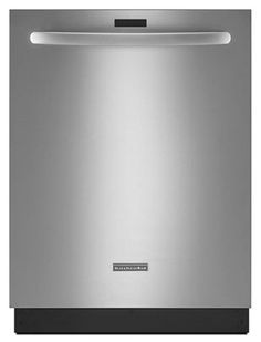 KitchenAid 24 Inch Built-In Dishwasher with ProDry Option, ProWash Cycle, SatinGlide Max Upper Rack, Whisper Quiet System at 43 dBA, Stemware Holders and ProScrub Option: Stainless Steel Fully Integrated Dishwasher, Built In Dishwasher, Energy Star, Kitchen Remodel, Stainless Steel, Cleaning, Kitchenaid, Water, Products